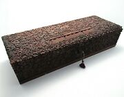 Magnificent North Indian C1860 Antique Hand Carved Wood Box Casket 19th Century