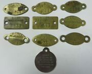 Vtg 1950and039s Lot Dog Tag License Tax Registration All New Jersey Exonumia Tokens