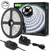 Le 5m Led Strips Lights Kit Dimmable 1200lm Daylight White 6000k Plug And