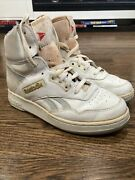 Vintage Men's Reebok Hi Top Sneakers Basketball Shoes Rare Hand Made Size 8.5