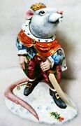 Alkota Russian Genuine Unique Wooden Collectible Figurine The Mouse King, 7.9