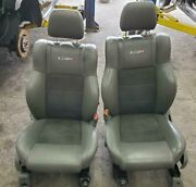 Jeep Grand Cherokee 2 Front Seat W/o Air Bag Srt8 Bucket Leather Electric