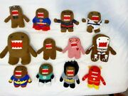 Lot Of A Dozen Domo Plush Stuffed Animal Toy Pre Owned Collectibles, Nice-look