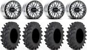 Raceline Ryno Bdlk 14 Mh Wheels 27 Outback Max Tires Rzr Turbo S / Rs1