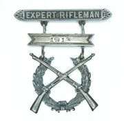 Named 1910 Mexican Indian War Pre Wwi U.s Army Sharpshooter Rifle Shooting Badge