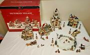 Members Mark 2006 Victorian Village Hand Painted Christmas Set- Incomplete- Read