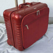 Rimowa Salsa Deluxe Business Two Wheel Red Carry On Luggage Business Trolley