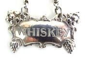 Omar Ramsden Whiskey Arts Crafts Wine Decanter Label Solid Sterling Silver 1937