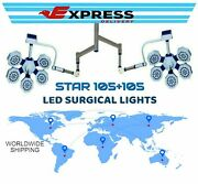 Led Operation Theater Lights Star 105+105 Ceiling Suspension Arm Dual Ot Light
