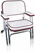 Portable Folding Deck Chair Boat Seat For Fishing Sports With Frame And Armrests