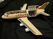 Vintage Playmobil Pacific Airline Plane Model 4310 - 7 People, 2 Suitcases