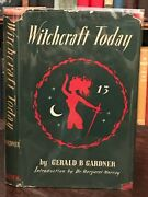 Witchcraft Today - Gerald B. Gardner First Ed 1954 - Witchcraft Wicca Magick