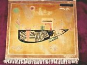 Vintage Silk Woven Wall Hanging Rug Signed