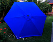 Patio Umbrella Canopy Top Cover Replacement Royal Blue Fit 9ft 6-rib Umbrella