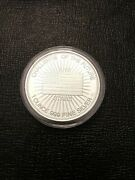 1 Oz. .999 Fine Silver Round - Challenge Of The Future / In Memory Of... - Plain