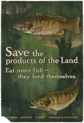 Charles Livingston Bull / Poster Save The Products Of The Land Eat More Fish