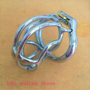 Ergonomic Ring Male Chastity Cage Device Upright Locking Belt Stainless Steel