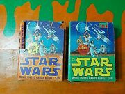 Topps 1977 Star Wars Movie Photo Bubble Gum Trading Cards Wax Boxes Read Desc