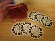 Vintage View Master Gaf W/ 2 Reels Era Of Space Shuttle And American First Steps