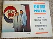 1974-75 New York Nets - Yearbook Press Media Guide - Aba - Dr J