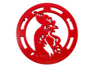 Lodge Cast Iron 8 Inch Enameled Rooster Trivet Red Andnbspandnbspandnbsp