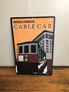 Authentic Street Road Sfmta Cable Car Sign 36x 23.5