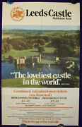 Leeds Castle Maidstone Kent Lord Conway Railway Poster 1983