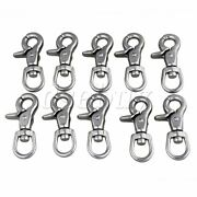 10pcs Multi-use Swivel Lobster Clasp Chain Snap Hook 304 Stainless Steel