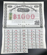 1867 Us Stock Bond Certificate - Iowa, Dubuque And Sioux City Railroad Co - 1000