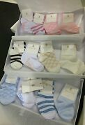 Nwt New Baby Boys Girls Box Of 4 Pairs Of Socks Beige Or Blue 0 1 2 3