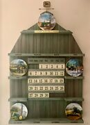 John Deere Plate Calendar Collection Display With 5 Plates By Danbury Mint