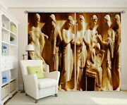 3d Carving Religious Zhua108 Blockout Photo Curtain Fabric Window Zoe
