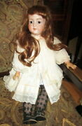 Huge Antique Bisque Doll-marked Armand Marseille 39 Stands 27