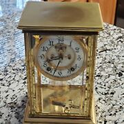 11 Early 20th Century 8 Day Antique Brass Porcelain Face Ansonia Mantle Clock