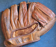 1950andrsquos Wilson A2111 Jim Finigan Autograph Model Baseball Glove