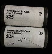 2015 John F. Kennedy P And D Presidential Dollar Roll Set 50 1 Coins Us Mint