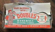 1951 Topps Red Back Empty Display Wax Pack Box