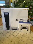 Sony Playstation 5 Console Disc Bundle With Extra Controller New In Hand