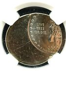 2000 New Hampshire State Quarter Coin - Ngc Mint Error Ms-67 Struck 50 Of Ctr.