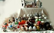 Salt And Pepper Shakers Lot Some Vintage Cats Steers Carrots Pea Pod Many More
