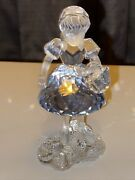 Crystal🔥 Red Riding Hood Figurine With Separate Basket 7550 Nr 000 00