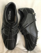 Bally Men Golf Shoe Size 13. New Flextec Black And Gray Leather Tractor Sole