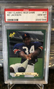 Bo Jackson 1987 Classic Mlb Game 15 Psa 10 Rookie Rc Most Wanted Rare Low Pop