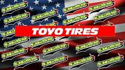 Toyo Tires Racing Windshield Banner Graphics Sticker 'free Shipping'