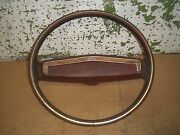 1977 Chevy Nova Concours Steering Wheel Wood Grain Horn Button 1978 1979 Red Oem