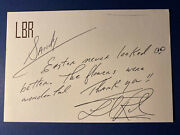 Lionel Richie Personal Signed Rare Stationary Note Letter 4.5x6.5 W/jsa Cert