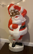 Vintage Union Products African American Black Santa Blow Mold 45 Lawn Light