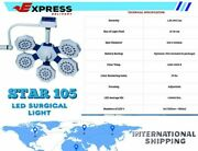 Single Arm Led Ot Light Star 105 Surgical Led Operation Theater Light-180000 Lux