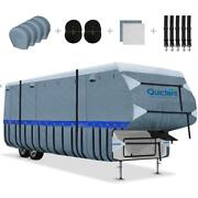 Quictent 6-ply 5th Wheel Rv Cover Waterproof Motorhome Camper Storage 26and039-41and039 Us
