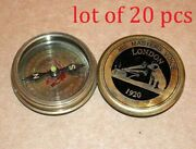 Vintage Nautical Solid Brass 2antique Compass Master Voice Collectible Compass